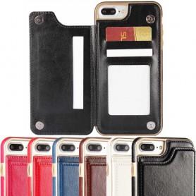 Kännykkäkotelo Flipwallet 3 -kortti Apple iPhone 7+ / 8+ -kotelo