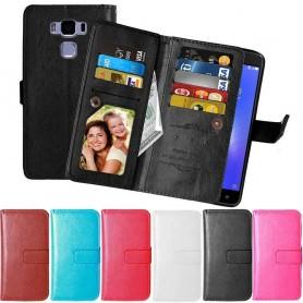 Siirrettävä lompakko Double Flip Flexi 9 -kortti Asus Zenfone 3 Max ZC552KL
