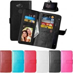 Kannettava lompakko Double Flip Flexi 9 -kortti Sony Xperia XA2 -kannettava kansi