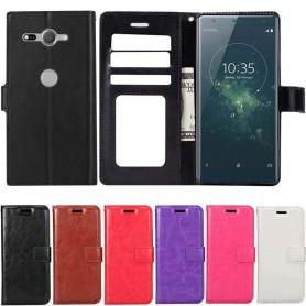 Kannettava lompakko 3-kortti Sony Xperia XZ2 -kokoinen Compact kansi