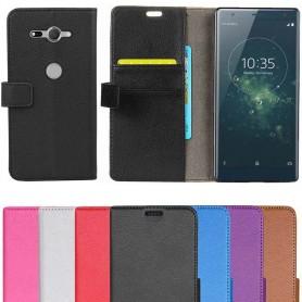 Mobiili lompakko 2 kortti Sony Xperia XZ 2 Compact Case läppäpuhelin kuorisuojaukseen