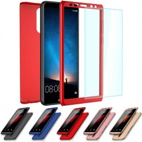 360 kannettava kuori lasilla Huawei Mate 10 Lite RNE-L21