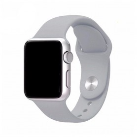 Apple Watch 42mm Sportband-vaaleanharmaa