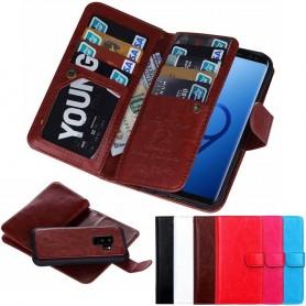 Kannettava lompakko kaksinkertainen kääntömagneetti 2i1 Samsung Galaxy S9 Plus kannettava kansi