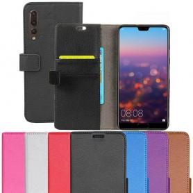Kannettava lompakko 2-kortti Huawei P20 Pro kannettava suojakotelo