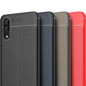 Nahkakuvioitu TPU-kuori Huawei P20 kannettava kuori silikoni