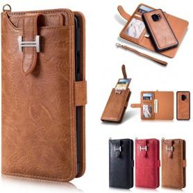 Monikäyttöinen lompakko 3i1 9 -kortti Samsung Galaxy S9 matkapuhelimen nahka