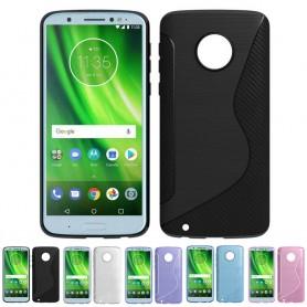 S Line -silikonikotelo Motorola Moto G6 mobiili kuori -kotelo