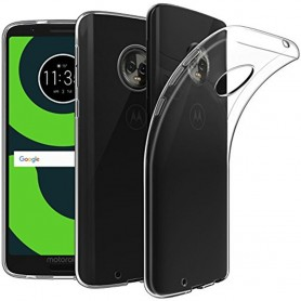 Mobiili kuori Motorola Moto G6 silikonikotelo läpinäkyvä