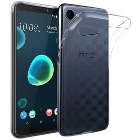 Mobile Shell HTC Desire 12 silikonikotelo läpinäkyvä