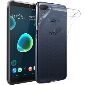 Mobile Shell HTC Desire 12 Plus silikonikotelo läpinäkyvä
