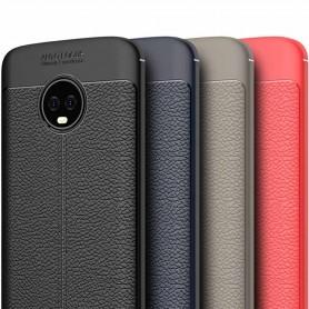 Kannettava suojanahkakuvioinen TPU-suoja Motorola Moto G6