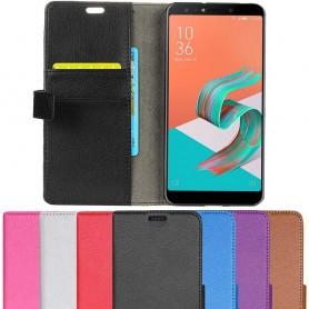 Kannettava lompakko 2 -kortti Asus Zenfone 5 Lite ZC600KL matkapuhelinkotelo