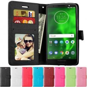 Matkapuhelin lompakko 3-korttinen Motorola Moto G6 matkapuhelimen kotelo
