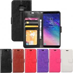 Kannettava lompakko 3-kortti Samsung Galaxy A6 2018 -kannettava kansi