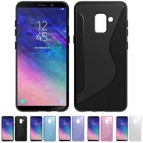 S Line silikonikuori Samsung Galaxy A6 2018 -puhelimen suojakuori