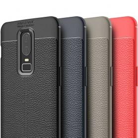Nahkakuvioitu TPU-kuori OnePlus 6 -kuori silikonikuori