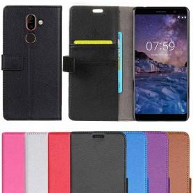 Kannettava lompakko 2-kortti Nokia 7 Plus -kotelo