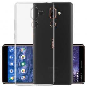 Silikonikotelo Läpinäkyvä Nokia 7 Plus -kuori tpu