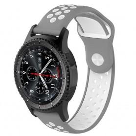 EBN Sport -rannekoru Samsung Gear S3 harmaa / valkoinen CaseOnline-silikoni
