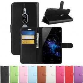 Kannettava lompakko 3-kortti Sony Xperia XZ2 Premium