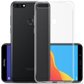 Huawei Y6 2018 silikonikotelo, läpinäkyvä matkapuhelinsuoja, TPU