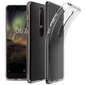 Silikonikuori Läpinäkyvä Nokia 6.1 2018 -kuori