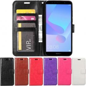 Siirrettävä lompakko 3-kortti Huawei Y6 2018 -puhelimen kuorilaukku-suunnitelma