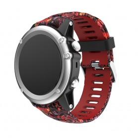 Camo Rannekoru Garmin Fenix 3 / 5X (punainen hyytelö) CaseOnline