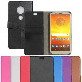 Kannettava lompakko 2-korttiinen Motorola Moto G6 Play kannettava suojakotelo