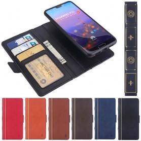 Retro Book Wallet 2i1 Huawei P20 matkapuhelinkotelo