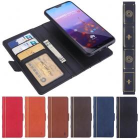 Retro Book lompakko 2i1 Huawei P20 Pro kannettava kuori -laukkukotelo, magneettinen