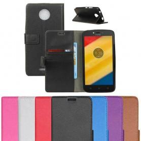 Siirrettävä lompakko Motorola Moto C plus kuori -suoja CaseOnline.se