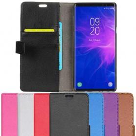 Kannettava lompakko 2-kortti Samsung Galaxy Note 9 -kannettava kansi
