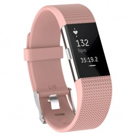 Sport Fitbit Charge 2: lle - vaaleanpunainen