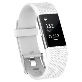 Sport Fitbit Charge 2: lle - valkoinen