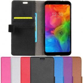 Kannettava lompakko 2-korttiinen LG Q7-matkapuhelinlaukku