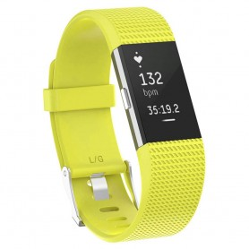 Sport Fitbit Charge 2: lle - keltainen