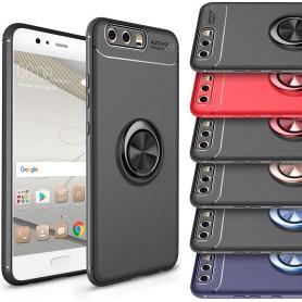 Slim Ring rengaskotelo Huawei P10 Plus kannettava kuori-selfie-sormusormus