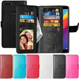 Kaksinkertainen läppä Flexi 9 -kortti Huawei Y9 2018 matkapuhelimen suojakuori