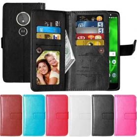 Kaksinkertainen läppä Flexi 9 Card Motorola Moto G6 Play matkapuhelimen kotelo
