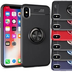 Slim Ring Apple iPhone XS Max matkapuhelimen magneettinen autoteline