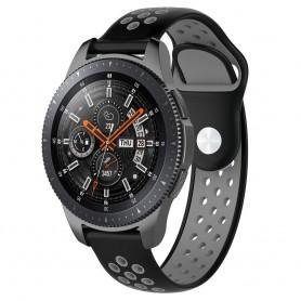 EBN Sport -rannekoru Samsung Galaxy Watch 46mm-Musta / Harmaa