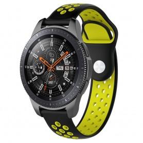 EBN Sport -rannekoru Samsung Galaxy Watch 46mm-musta / keltainen