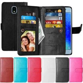 Kaksinkertainen läppä Flexi 9 Card Samsung Galaxy J7 2018 matkapuhelimen kotelo
