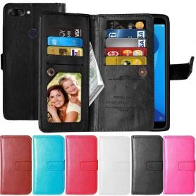 Kaksinkertainen läppä Flexi 9 -kortti Asus Zenfone Max Plus ZB570TL kannettava suoja