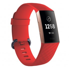Sport Fitbit Charge 3: lle - punainen