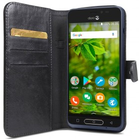 Doro 8035 Wallet Case - Musta kannettava lompakko