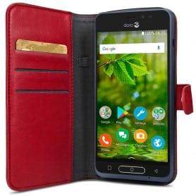 Doro 8035 Wallet Case - punainen matkapuhelinlaukku