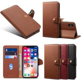 Denior matkalaukku nahka 3-kortti Apple iPhone XS Max nahkakotelo suojakuori Caseonline